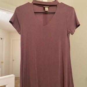 cutout t shirt dress